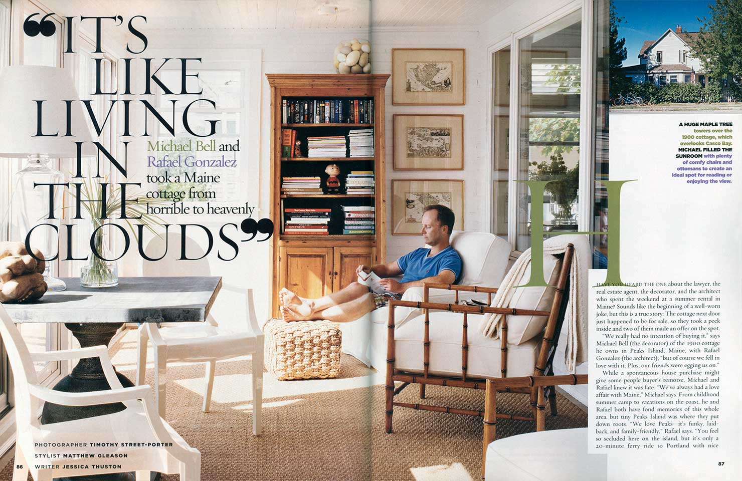 Living In Magazine featured in cottage living magazine michael k bell interior design