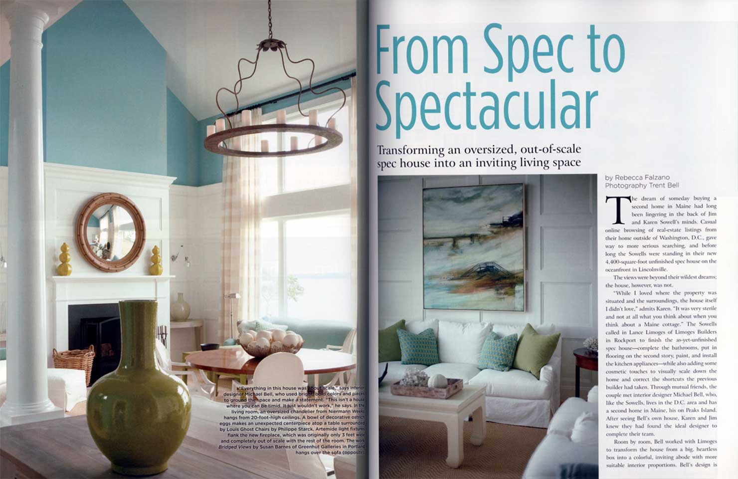 featured in maine home + design magazine - michael k bell interior