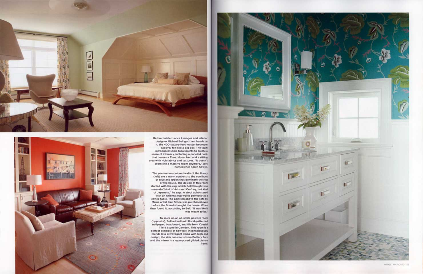 Featured in maine home design magazine michael k bell for Maine home and design